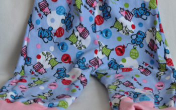 Leichte Babyleggings mit Mausmuster