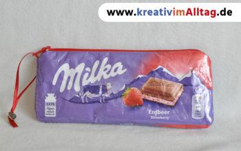Süße Tasche aus Schokoladenverpackung