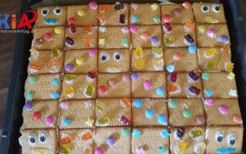 Butterkekskuchen mit Kindern gestalten