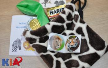 Wilde Tiere Geburtstag DIY: Wie nähe ich schnell einfache Beutel als Mitgebseltäschlein zum Kindergeburtstag
