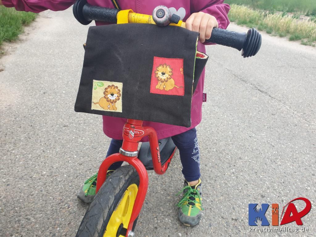 Laufradtasche im Einsatz