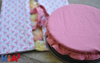 Ein praktisches Geschenk nähen: Kuchentasche mit Kuchenabdeckung