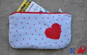 Eine Reißverschlusstasche nähen: Täschlein Nanami