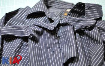 Anleitung zum selbst nähen: Ein Hemdenset für den Sohnemann und seine Puppe aus einem alten Männerhemd Teil 2